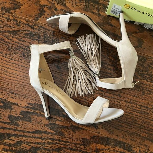 Chase + Chloe Shoes - Chase + Chloe Nude Edward Tassel Heels